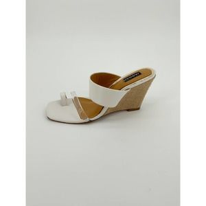 Jaggar Wedged Leather Wedge Slide Sandals Heel